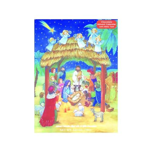 Nativity Advent Calendar with Chocolate