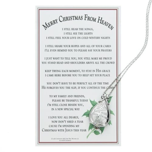 Merry Christmas from Heaven - Keepsake Locket w/Memory Box
