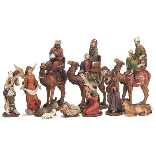 Nativity Set with Wise Men on Camels