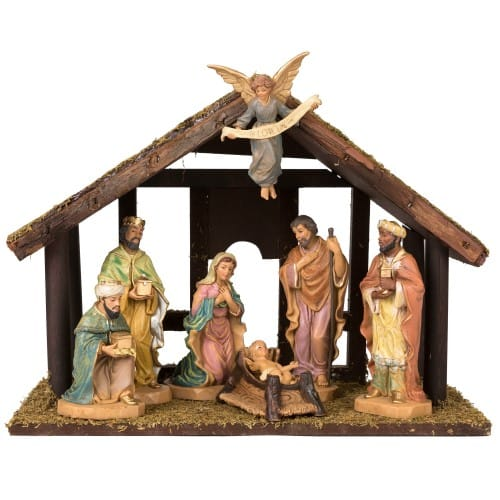 Nativity with Stable 7-Piece Set