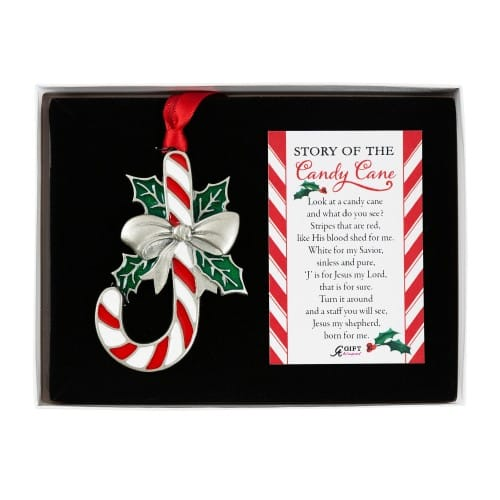Image of Religious Meaning of the Candy Cane Ornament with Card