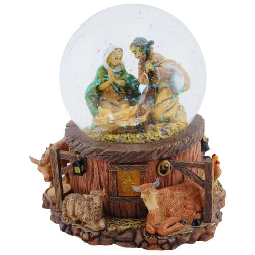 Fontanini Musical Nativity Snowglobe