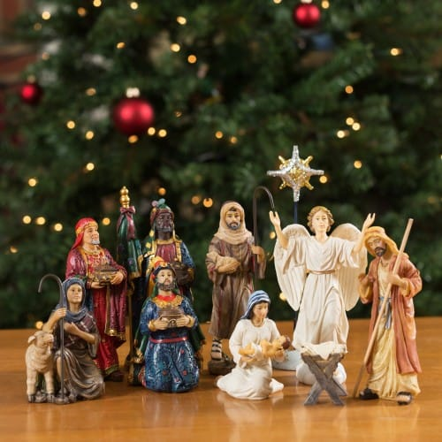 "Real_Life_Nativity_Set_-_7""_Scale"