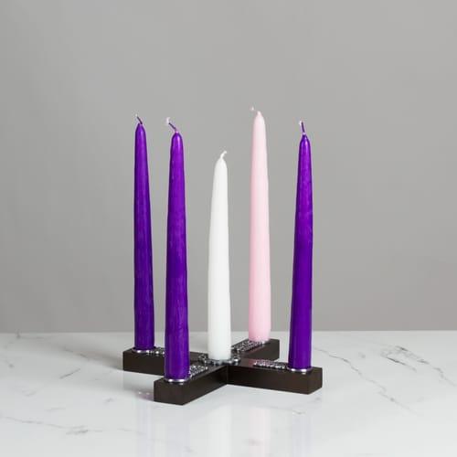 Celtic Knot Wood Cross Advent Wreath