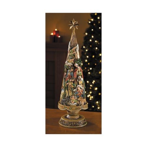 "Nativity Christmas Tree Figurine, 20"""
