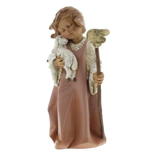 "Fontanini Woodtone Nativity Angel with Staff 8"""