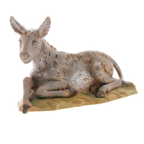 "Fontanini Seated Donkey Nativity Figurine 5"" Scale"