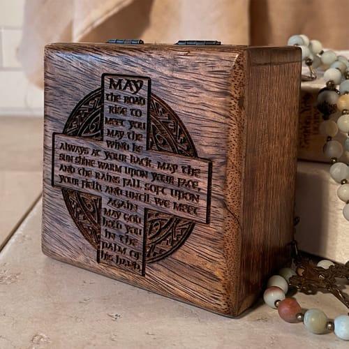 Personalized Irish Blessing Keepsake Box
