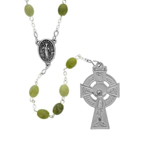 Connemara Marble Oval Bead Rosary