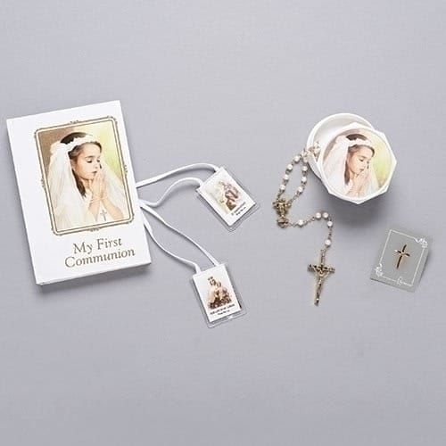 Joseph's Studio First Communion Book, Rosary & Accessory Set - Girl