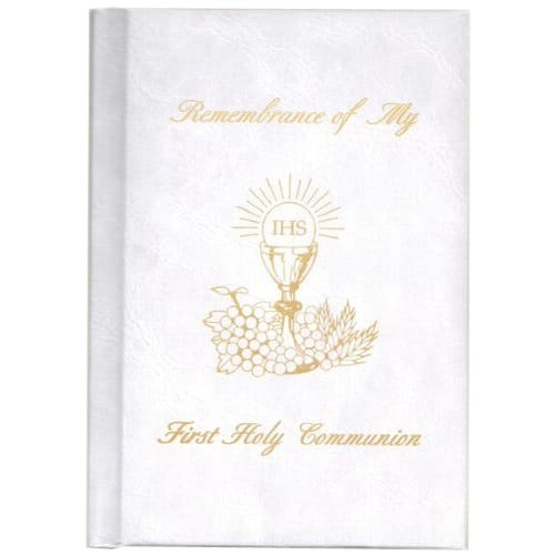 First Holy Communion Remembrance Mass Book –White Hardcover