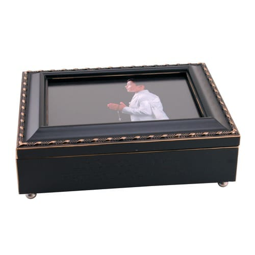 First Communion Frame Music Box - Boy