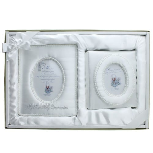 First Communion Satin Album/Frame Set