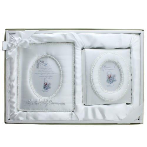 First Communion Satin Album/Frame Set