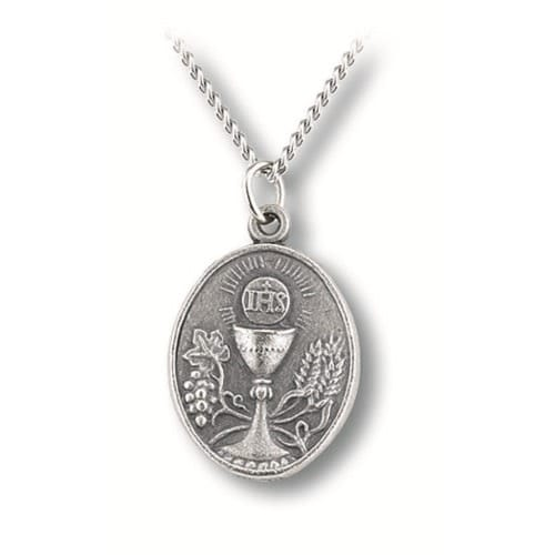 First Communion Pewter Medal