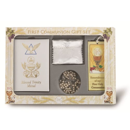 First Communion Blessed Trinity Gift Set For Girls