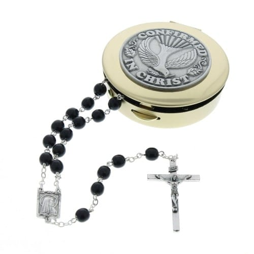 Confirmation Rosary Box Set - Black Rosary