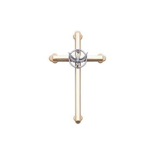 Metal Wall Cross w/Dove - 6 inch