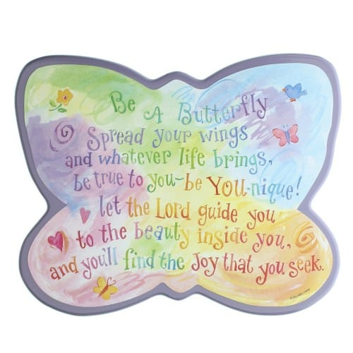 Butterfly Shaped Plaque
