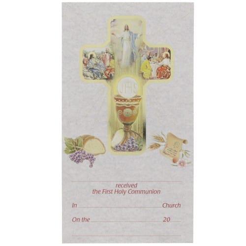 First Communion Card Certificate