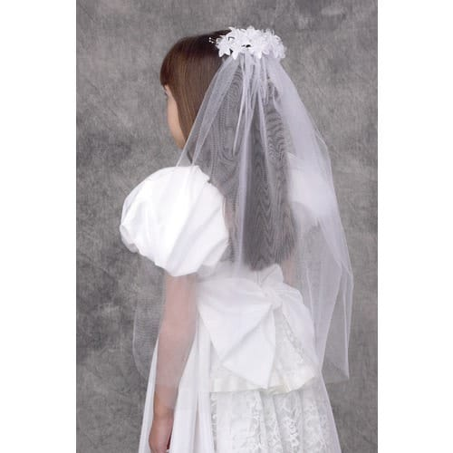 Girl's First Communion Floral Veil