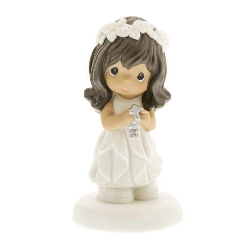 First Communion Dark-Haired Girl Figurine