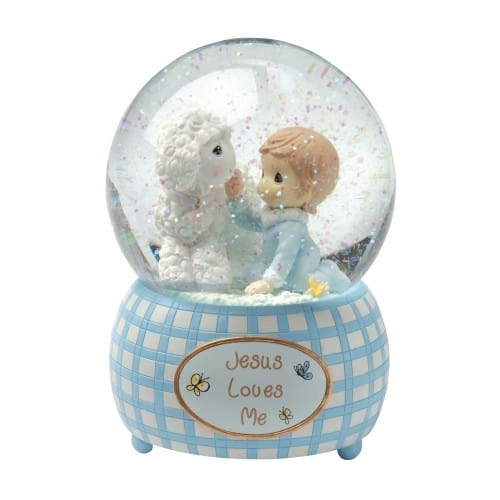 Precious Moments Musical Water Globe For Boys