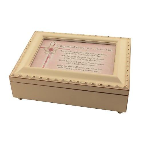 Baptismal Prayer Keepsake Music Box, Girl