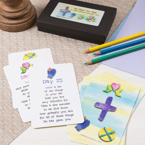 40 Days of Lent Cards for Children