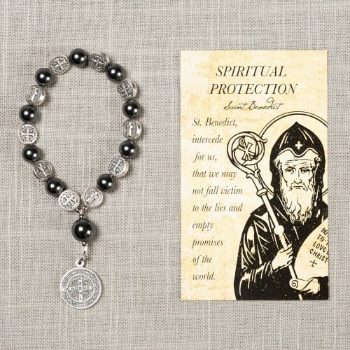 St. Benedict Spiritual Protection Decade Rosary & Card