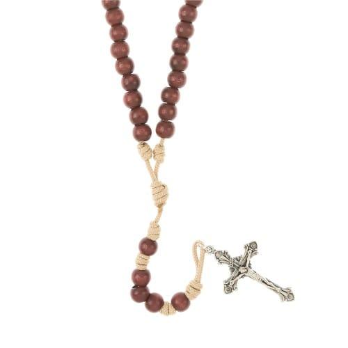 Simplicity Mahogany Paracord Rosary