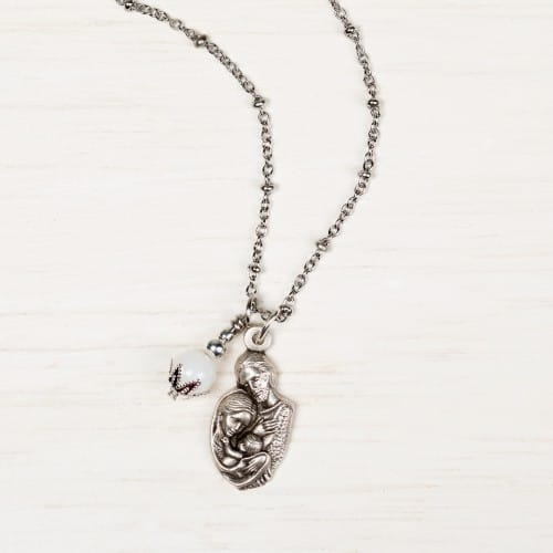 Holy Family Ball Chain Necklace