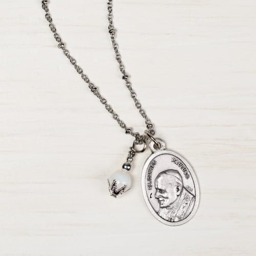 St. John Paul II Ball Chain Necklace