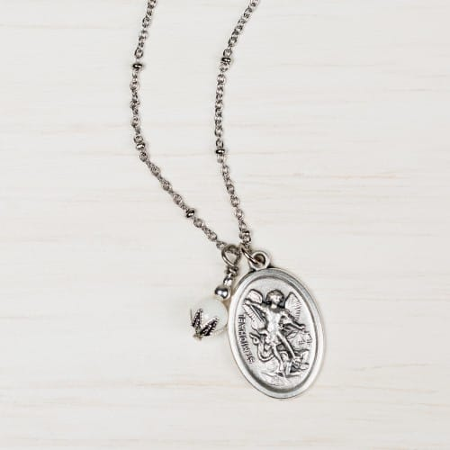 St. Michael Ball Chain Necklace