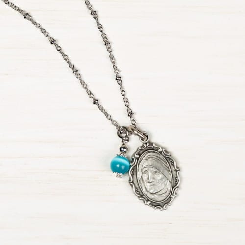 St. Mother Teresa of Calcutta Ball Chain Necklace