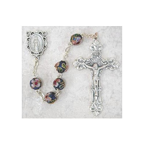7MM Dark Blue Cloisonne Rosary