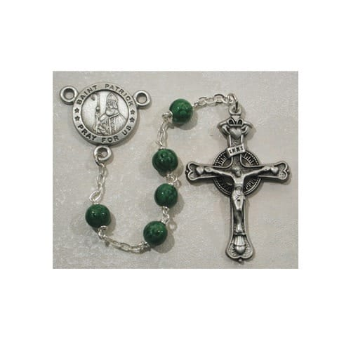 6MM Pewter St. Patrick Rosary