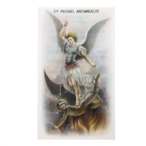 Pewter St. Michael Medal with Prayer Card Police