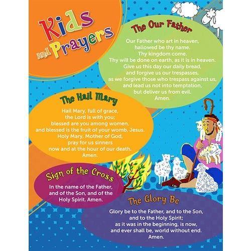 Kids & Catholic Prayers Card