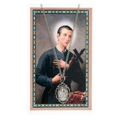 St. Gerard Prayer Card & Necklace Set