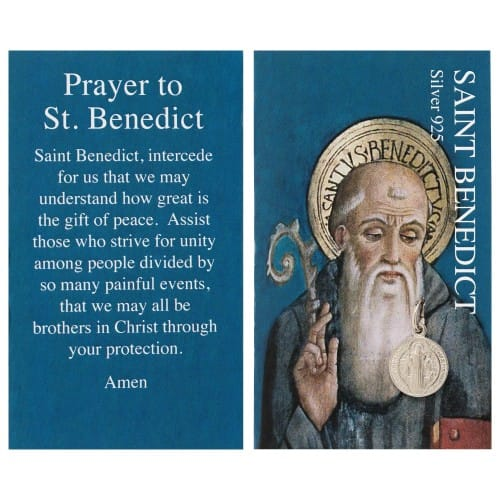 St. Benedict Silver Medal & Prayer Card