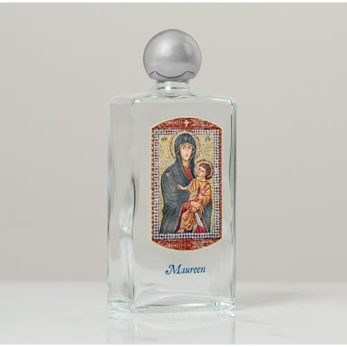 Personalized Mary Mother of the Church Holy Water Bottle