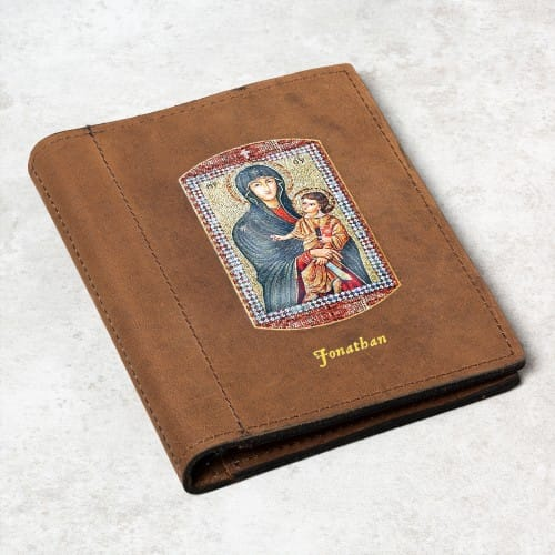 Personalized Mary Mother of the Church Prayer Card Holder