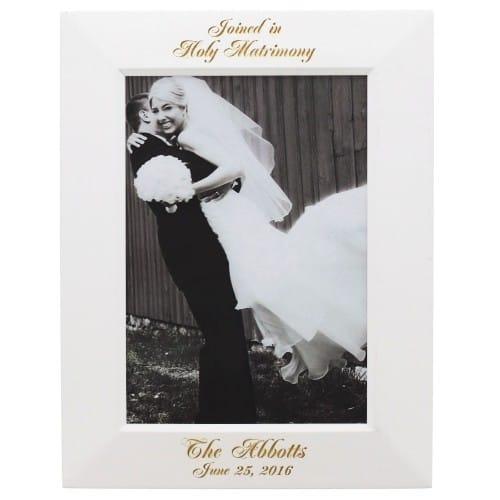 White Wood Wedding Frame