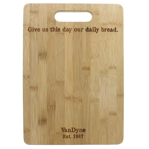 Personalized Daily Bread Cutting Board