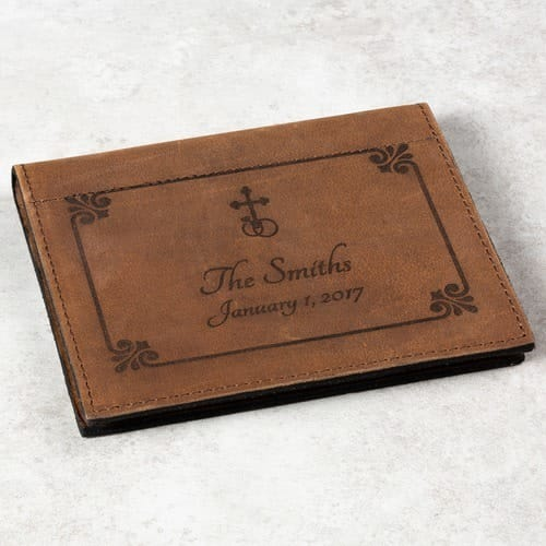 Wedding Rings & Cross Prayer Card Holder