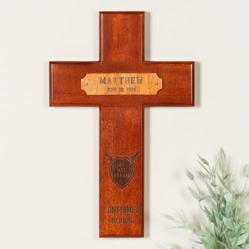 Personalized Confirmation Wood Cross