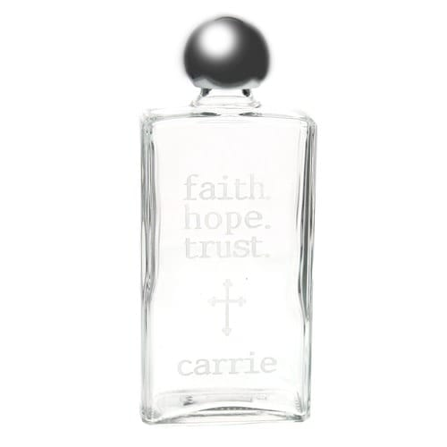 Personalized Faith Hope Trust Holy Water Bottle