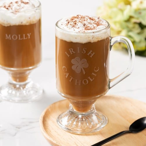 Irish Catholic Glass Coffee Mug