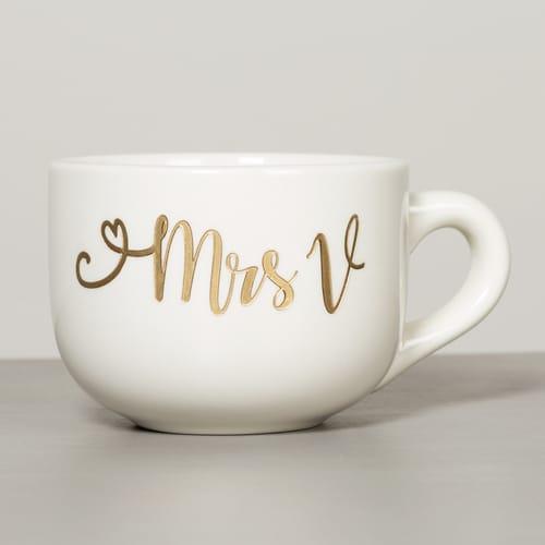 Personalized Wedding Latte Mug